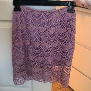 Dresses & Skirts - Lilac purple lace skirt